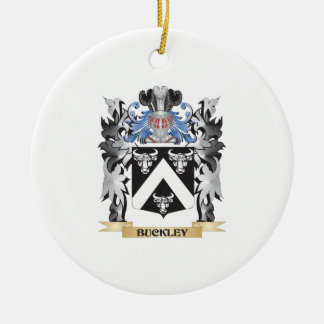 Buckley Coat of Arms - Family Crest Double-Sided Ceramic Round Christmas Ornament