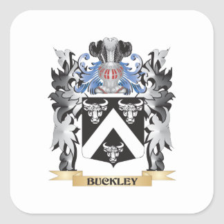 Buckley Coat of Arms - Family Crest Square Sticker