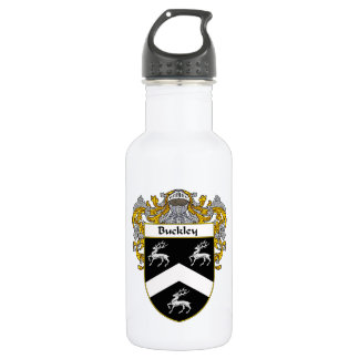 Buckley Coat of Arms/Family Crest Water Bottle