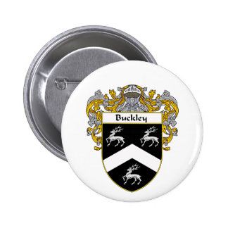 Buckley Coat of Arms Mantled Pinback Buttons