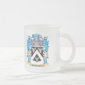 Buckley Coat of Arms 10 Oz Frosted Glass Coffee Mug