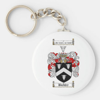 BUCKLEY FAMILY CREST -  BUCKLEY COAT OF ARMS BASIC ROUND BUTTON KEYCHAIN