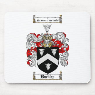 BUCKLEY FAMILY CREST -  BUCKLEY COAT OF ARMS MOUSE PAD