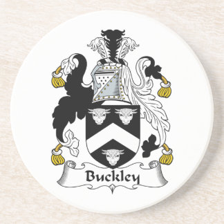 Buckley Family Crest Beverage Coasters