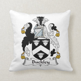 Buckley Family Crest Throw Pillow