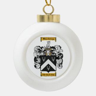Buckley (irish) ceramic ball christmas ornament