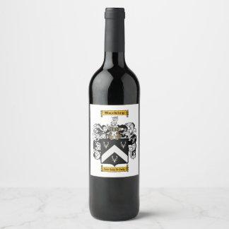 Buckley (irish) wine label