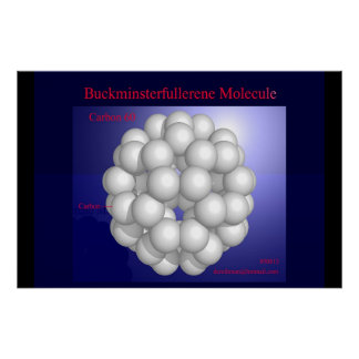 Buckminsterfullerene Molecule (print) Poster