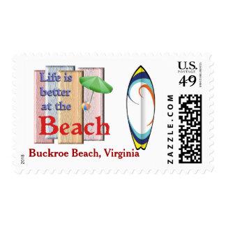 Buckroe Beach, Virginia Stamp