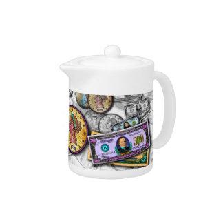 Bucks Coins MONEY TEA POT or CREAMER by PopArtDiva