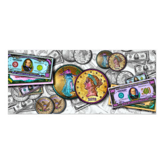 Bucks Coins MONEY THEMED INVITATIONS by PopArtDiva