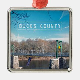 Bucks County. Metal Ornament