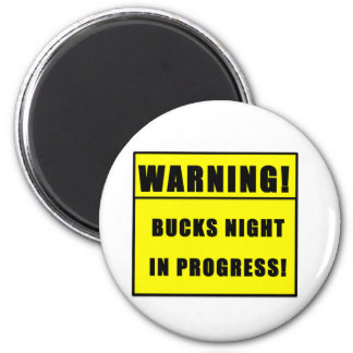 BUCKS NIGHT 2 INCH ROUND MAGNET