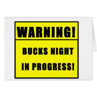 BUCKS NIGHT CARD