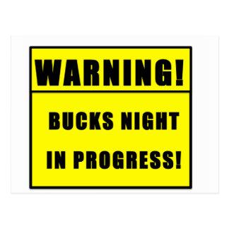BUCKS NIGHT POSTCARD