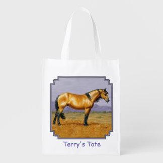 Bucksin Wild Horse Mustang Stallion Grocery Bag