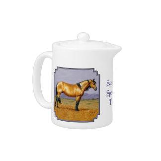 Bucksin Wild Horse Mustang Stallion Teapot
