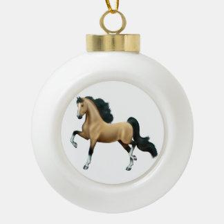 Buckskin American Saddlebred Horse Ornament