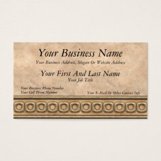 Buckskin and Bridle Leather Business Card