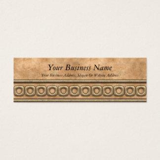 Buckskin and Bridle Leather Mini Business Card