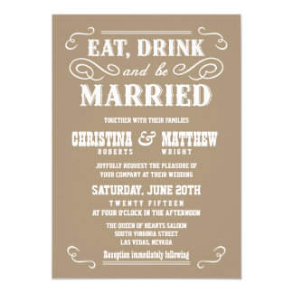 Buckskin Beige Old West Wedding Invitations