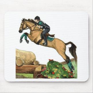 buckskin big leap xc HORSE ART Eventing Mouse Pad