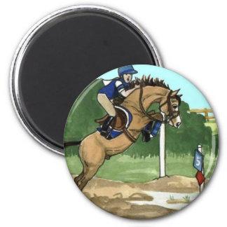 """Buckskin Horse Art """"Don't get toes wet"""" Magnet"""