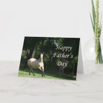 Buckskin horse Father's Day card