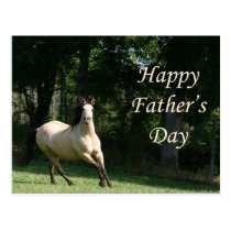Buckskin horse Father's Day postcard