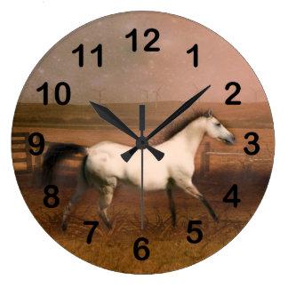 Buckskin horse wallclock