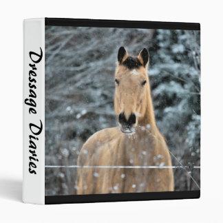 Buckskin Horse Winter 3 Ring Binder