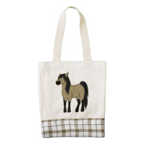 Buckskin Horse Zazzle HEART Tote Bag