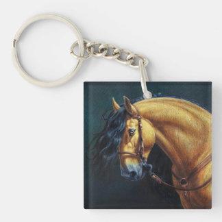 Buckskin Lusitano Stallion Keychain