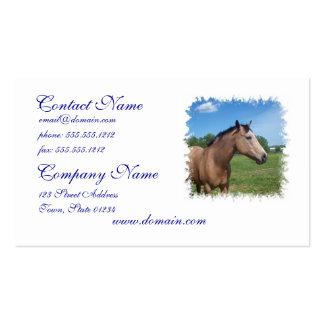Buckskin Mustang Business Card