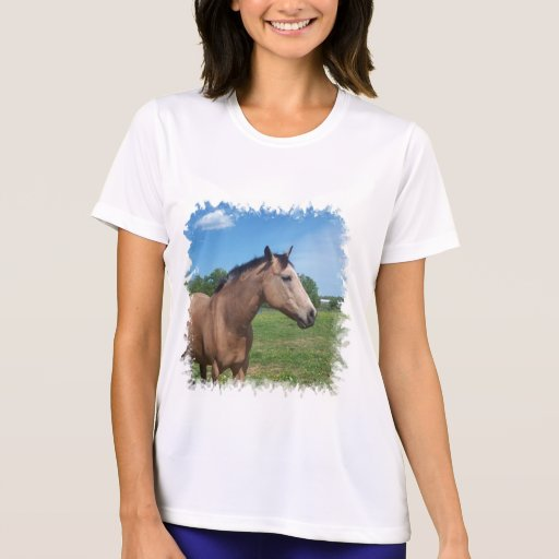 Buckskin Mustang Micro-Fiber T-Shirt
