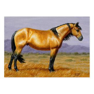 Buckskin Mustang Stallion Large Business Cards (Pack Of 100)