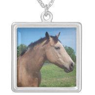 Buckskin Mustang Sterling Silver Necklace