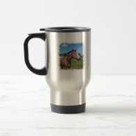 Buckskin Mustang Travel Mug