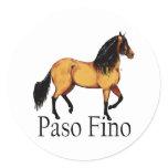 Buckskin Paso Fino Horse stickers