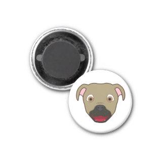 Buckskin Pitbull 1 Inch Round Magnet