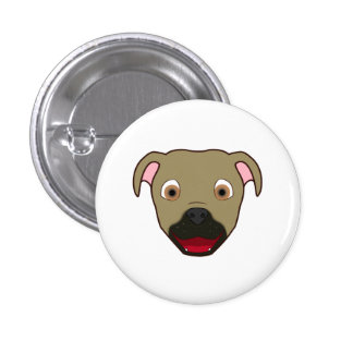 Buckskin Pitbull Pinback Button