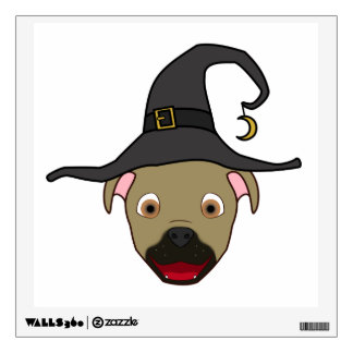Buckskin Pitbull with Witch Hat Room Graphics