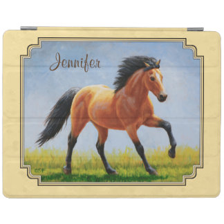 Buckskin Running Horse Yellow iPad Cover
