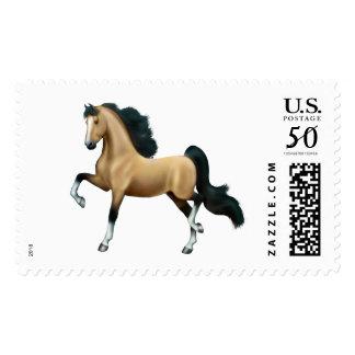Buckskin Saddlebred Gaited Horse Postage Stamps