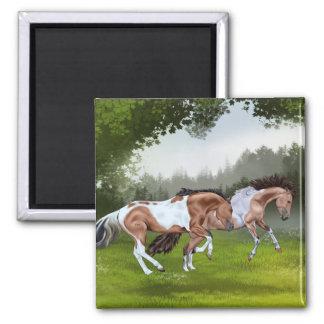 Buckskin Tobiano Paint Horses Magnet