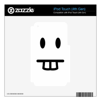 Bucktooth Face Decals For iPod Touch 4G