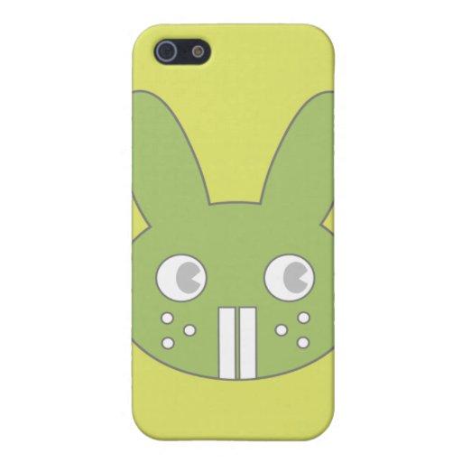 BuckToothBunny en verde iPhone 5 Carcasa