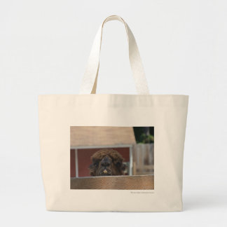 bucktoothed alpaca tote bags