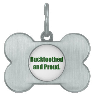 Bucktoothed and Proud Pet Name Tags