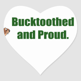 Bucktoothed and Proud. Heart Stickers